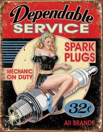 Dependable Service Tin Sign