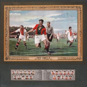 Depiction of a Match Between Ado Den Haag and Ajax, 1933