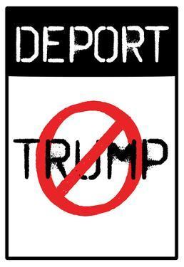 Deport Trump Distressed Street Sign