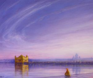 Evening at the Golden Temple, Amritsar by Derek Hare