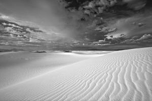 Summer Monsoon Clouds over White Dunes in White Sands National Monument by Derek Von Briesen