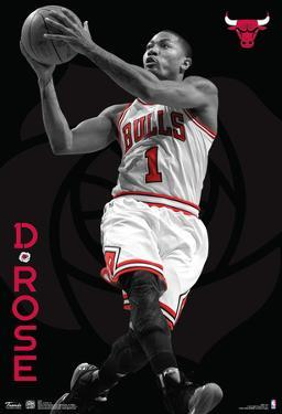 Derrick Rose Chicago Bulls Nba Sports Poster