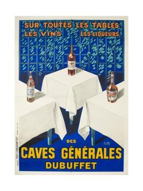 Des Caves Generales Dubuffet French Wine and Spirits Poster