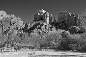 Cathedral Rock from Crescent Moon Ranch by desertsolitaire