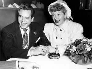 Desi Arnaz and Lucille Ball at the Stork Club, 1947