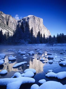California, Yosemite National Park, Yosemite Valley, Snowy Landscape Of El Capitan by Design Pics