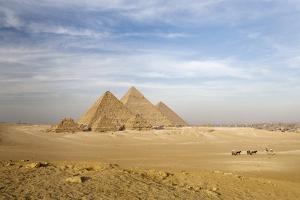 The Pyramids, Giza, Cairo, Egypt by Design Pics/Deddeda