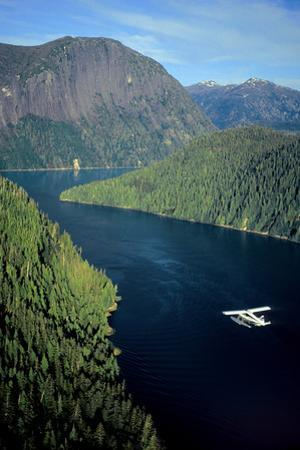 Aerial View of Float Plane Flying over Misty Fjords' *Punchbowl* in Southeast Alaska During Summer by Design Pics Inc