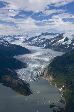 Aerial View of Mendenhall Glacier Winding its Way Down from the Juneau Icefield to Mendenhall Lake by Design Pics Inc