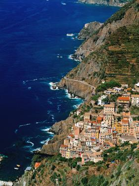 Aerial View of Town on Cliff Side by Design Pics Inc