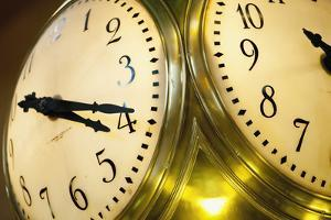 Antique Clock Inside Grand Central Termina; Murray Hill, Manhattan, New York, USA by Design Pics Inc