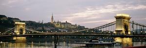 Chain Bridge, River Danube and Matyas Church at Dusk by Design Pics Inc