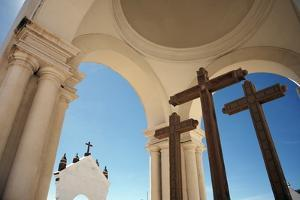 Crucifix at Basilica of Our Lady of Copacabana by Design Pics Inc