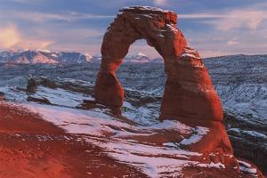 Delicate Arch at Sunset in Winter in Arches National Park; Utah, USA by Design Pics Inc