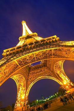 Eiffel Tower at Night; Paris, France by Design Pics Inc