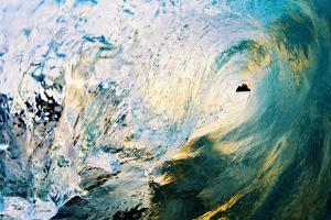 Hawaii, Maui, Makena, Beautiful Blue Wave Breaking at the Beach by Design Pics Inc