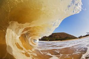 Hawaii, Maui, Makena, Beautiful Wave Breaking at the Beach by Design Pics Inc