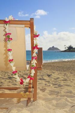 Hawaii, Oahu, Kailua, a Lounge Chair on the White Sandy Beach of Lanikai by Design Pics Inc