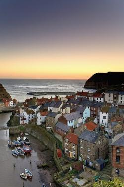 High Angle View of Staithes Townscape; North Yorkshire, England, Uk by Design Pics Inc