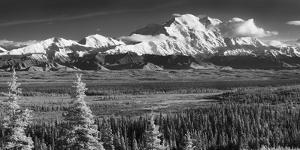 Infrared Panorama of Denali and the Alaska Range Taken from Near the Wonder Lake Campground by Design Pics Inc