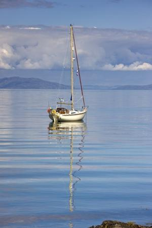Isle of Colonsay, Scotland; Sailboat on the Ocean by Design Pics Inc