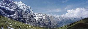 Jungfrau and Lauterbrunnnen Valley Near Grindelwand in Bernese Alps by Design Pics Inc
