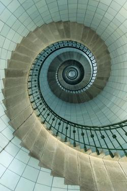 Looking Up the Spiral Staircase of the Lighthouse by Design Pics Inc