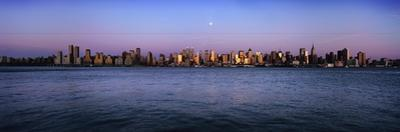 Moon over Midtown Manhattan Skyline at Dusk by Design Pics Inc