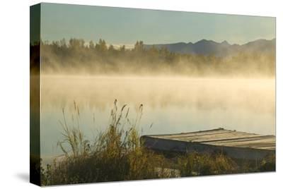 Morning Mist Rises on 6 Mile Lake Sc Ak Autumn Elmendorf Airforce Base by Design Pics Inc