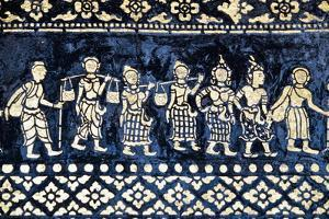 Motif on Side of Wat Xieng Thong by Design Pics Inc