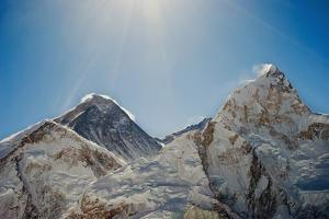 Mount Everest and Nuptse; Khumbu, Nepal by Design Pics Inc