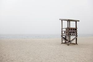 New England, Massachusetts, Cape Cod, Abandoned Lifeguard Station on Beach by Design Pics Inc