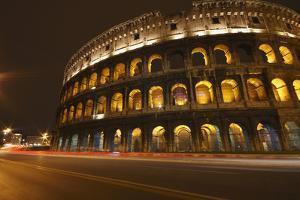 Night Lights of the Colosseum; Rome Lazio Italy by Design Pics Inc