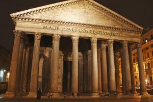 Night Lights of the Pantheon in Piazza Della Rotunda; Rome Lazio Italy by Design Pics Inc