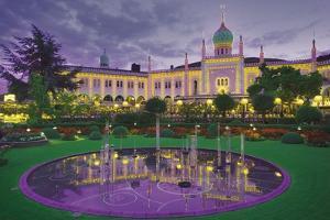 Nimb Brasserie, Tivoli Gardens, Copenhagen, Denmark; Amusement Park and Fountain by Design Pics Inc
