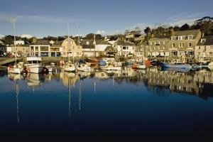 Padstow Marina Reflecting in Water by Design Pics Inc