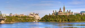 Parliament Buildings and the Fairmont Chateau Laurier; Ottawa Ontario Canada by Design Pics Inc