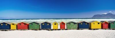 Row of Beach Houses on Beach by Design Pics Inc