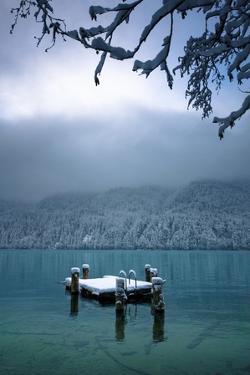 Snowy Dock Floating in Lake; Bellingham,Washington,USA by Design Pics Inc