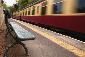 Speeding Passenger Train; Yorkshire,England by Design Pics Inc