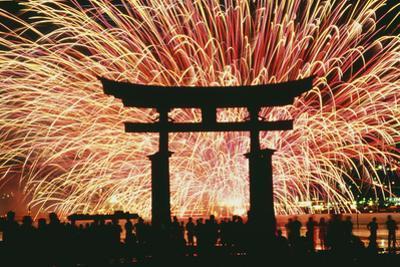 Summer Fireworks at Itsukushima Shrine by Design Pics Inc