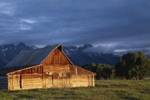 Sunrise on Old Wooden Barn on Farm, Moulton Barn by Design Pics Inc