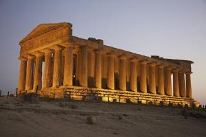Temple of Concordia in the Valley of the Temples; Agrigento, Sicily, Italy by Design Pics Inc