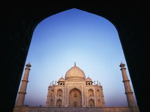The Taj Mahal at Dawn as Seen Through Archway by Design Pics Inc
