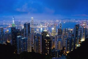 Victoria Peak, Hong Kong Island, China, Asia by Design Pics Inc