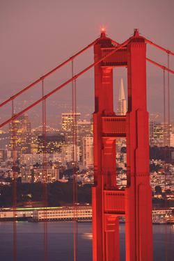 View from Golden Gate National Recreation Area Golden Gate Bridge with City of San Francisco by Design Pics Inc