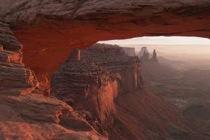 Washer Woman Arch Viewed Through Mesa Arch at Sunrise in Canyonlands National Park; Utah, USA by Design Pics Inc