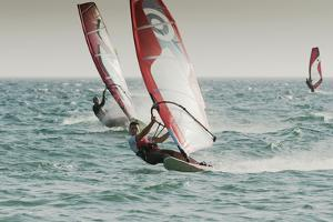 Windsurfing; Tarifa Cadiz Andalusia Spain by Design Pics Inc