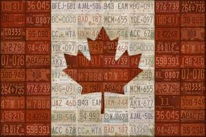 Canada License Plate Flag by Design Turnpike