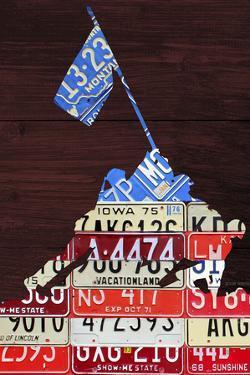 Iwo Jima License Plate Art by Design Turnpike